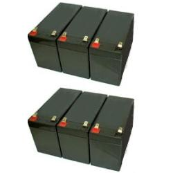powerware 9130 1000 ebm rack battery set