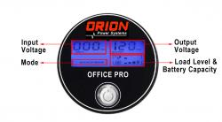Orion 1000VA Office Pro LCD screen